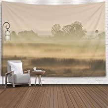 Douecish Tapestry Wall Hanging, Decoration Morning Fog in The Delta Romania for Bedroom Living Room Decor Wall Hanging Tapestry 80X60 Inches