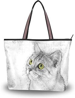 Mnsruu Tasche mit Tragegriff oben, große Kapazität, Strandtasche, Causal Einkaufstasche, Reise-Handtasche für Urlaub, Arbe...