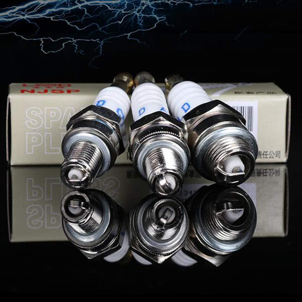 FLAMEER 3 Piezas Bujías de Motor para Recortadora/Bomba de Agua ...