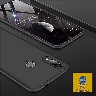 Capa Case Capinha 360º Anti Impacto Fosca Para Xiaomi Redmi Note 7 e Note 7 Pro + Película de Vidro Temperado Cor Preto/Preto