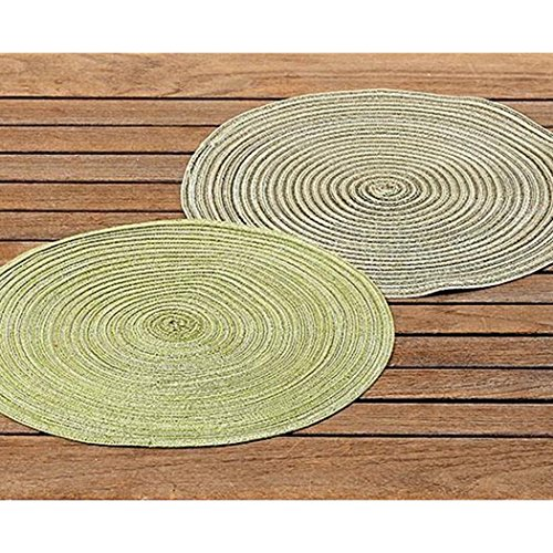 Boltze Set de table vert assorties 38 cm (1474300)