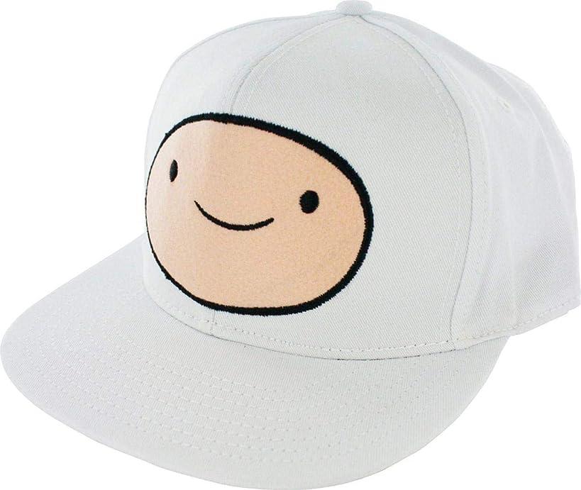 Adventure Time Finn Face Snapback Adjustable Baseball Cap White