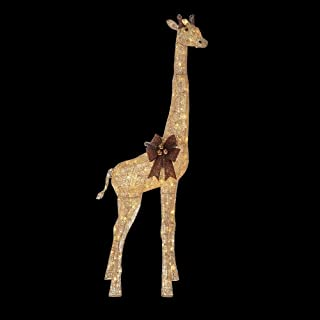 Home Accents Holiday 73 in. LED Lighted Gold Grapevine Giraffe