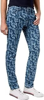 Tommy Hilfiger Men's Slim-Fit Puzzle-Print Jeans