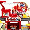 Education Fire Station Building Toy - 51PCS Building Set with Alloy Vehicle, Building Kit Toy with Colorful Lights & Cool Sound, Play Set for Boys Girls, Parent-Child Toys for 3-6 Years Old Kids #2