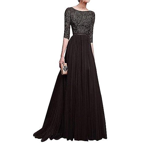 9c47bbcccc7f9 Minetom Donna Vestito Lungo Abito Da Cerimonia Elegante Vestiti Da  Matrimonio Lunghi Formale Banchetto Sera Maxi