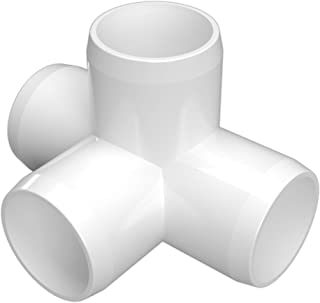 FORMUFIT F1144WT-WH-4 4-Way Tee PVC Fitting, Furniture Grade, 1-1/4