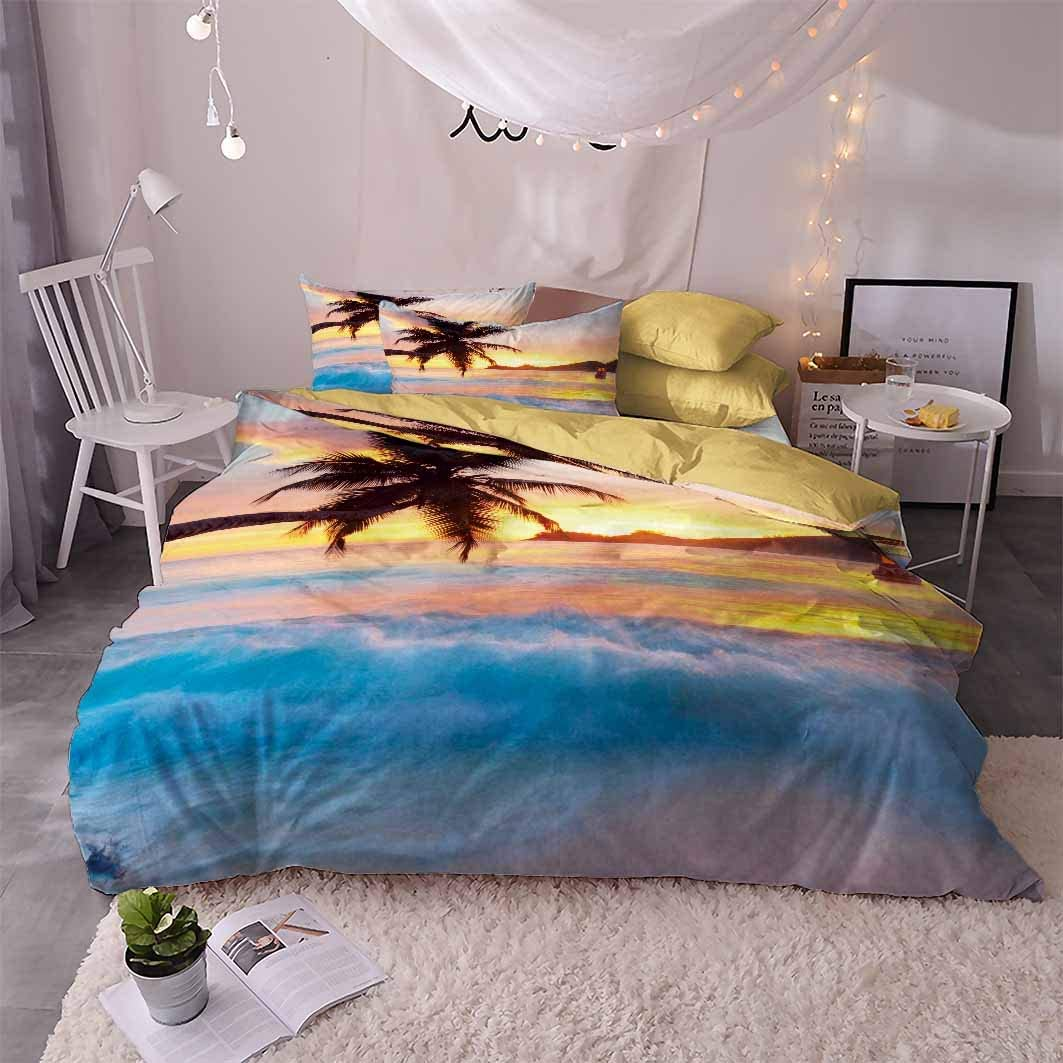 Sunset Seattle Mall Beach 3D Bedding Set Twin Max 51% OFF Full King Bedclothes Duve Queen