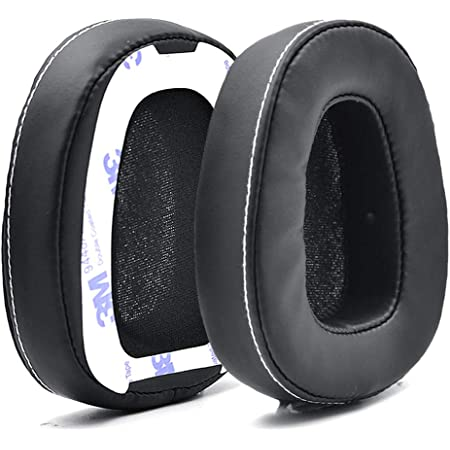 Defean 1 Pairs Black Ear Pads Ear Cushion Cover with Tape Compatible with Skullcandy Crusher Over Ear Wired Built-in Amplifier and Mic Headphone