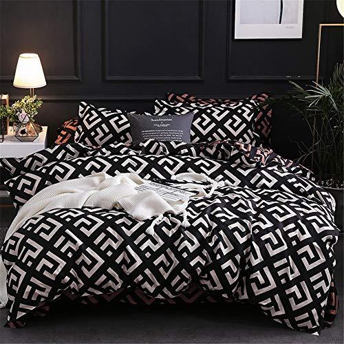 JONJUMP Modern Geometric California King Bedding Sets Sanding Duvet Cover Set Pillowcase 3 Pcs Bed Set