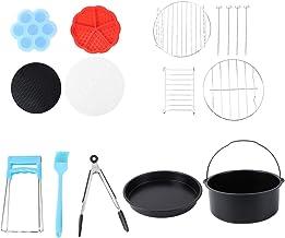 Cabilock Kit de acessórios de fritadeira a ar de 20 cm para churrasqueira, pratos de pizza, caixa de alimentos para cafete...