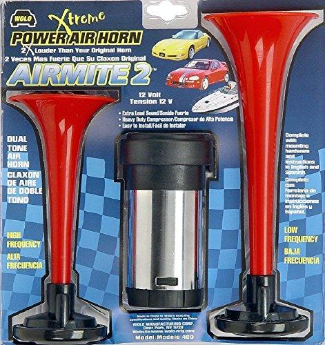Wolo (400) Airmite 2 Power Air Horn - 12 Volt, Low and High Tone