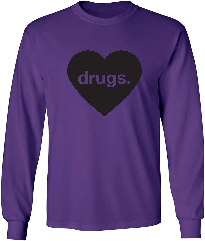 zerogravitee Drugs Heart Adult Long Sleeve T-Shirt