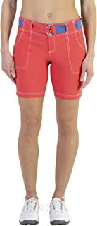 Belted Golf Short - Tomato -4