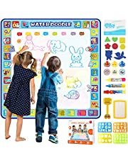 Tobeape® 100 X 100 cm Extra Large Aqua Magic Doodle Mat, Colorful Educational Water Drawing Doodling Mat Coloring Mat for Kids Toddlers Boys Girls Age of 2 3 4 5 6 7 8