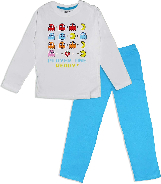 Juego de pijama de algodón para niños Pac Man