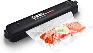Cadrim Vacuum Sealer with Starter Kit, Automatic and Lightweight Food Sealing Machine for Food Saver and Sous Vide Cooking with 15 Starter Bags