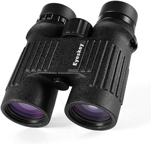 Telescope Jumelles 10X Professionnel HD Optique réglable de Poche binoculaire Portable, Jumelles de Voyage de randonnée en Plein air, Mini Pliant Compact