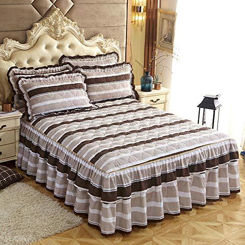 CYYyang Protector de colchón, algodón, poliéster, Hoja de Cama de Encaje de Falda de Cama gruesa-17_150 * 200cm