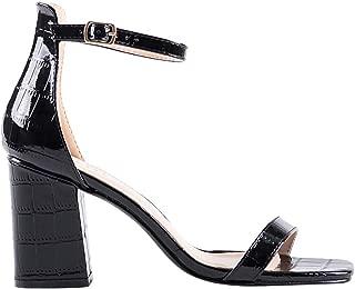 RAID Women's Aliya Heel Sandals Croco Patent