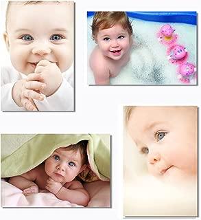 4x Babyhood Baby Kids Boys Child Cute Mother Mom Mama Pregnancy Wall Silk Poster Big Room Prints 20x13
