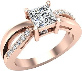 Infinity Shank Promise Diamond Ring 14K Gold 0.75 Ctw (I,I1)