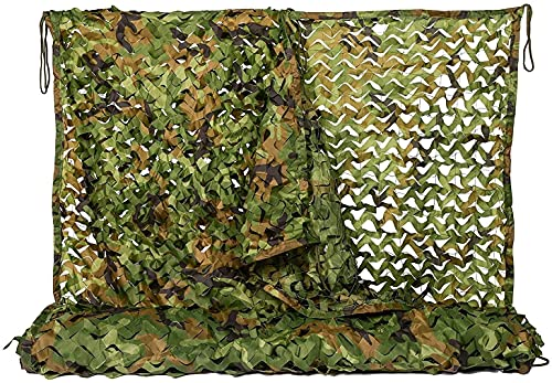 ZHANGQINGXIU Malla Sombra De Red,Woodland Camo Netting Camuflage Net For Camping Military Hunting Shooting Sunscreen Nets, 4 Tamaños, 3 Colores (Color : Woodland, Size : 2x5m)