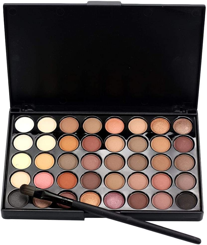 BIANHAO 40-Color Eyeshadow + Brush Set Matte New sales Rare Pearlescent Makeup