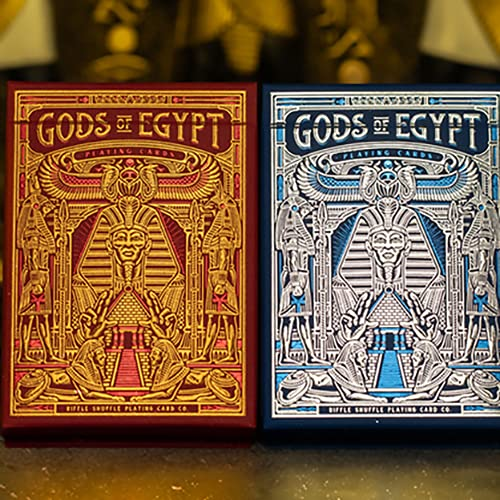 SOLOMAGIA Gods of Egypt (Blue) Playing Cards by Divine Playing Cards