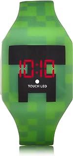 Minecraft Reloj de cuarzo para niño con correa de goma, color verde, 24 (Modelo: MIN4019AZ). No incluye caja