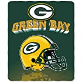 NFL Green Bay Packers Gridiron Fleece Throw, 50-inches x 60-inches