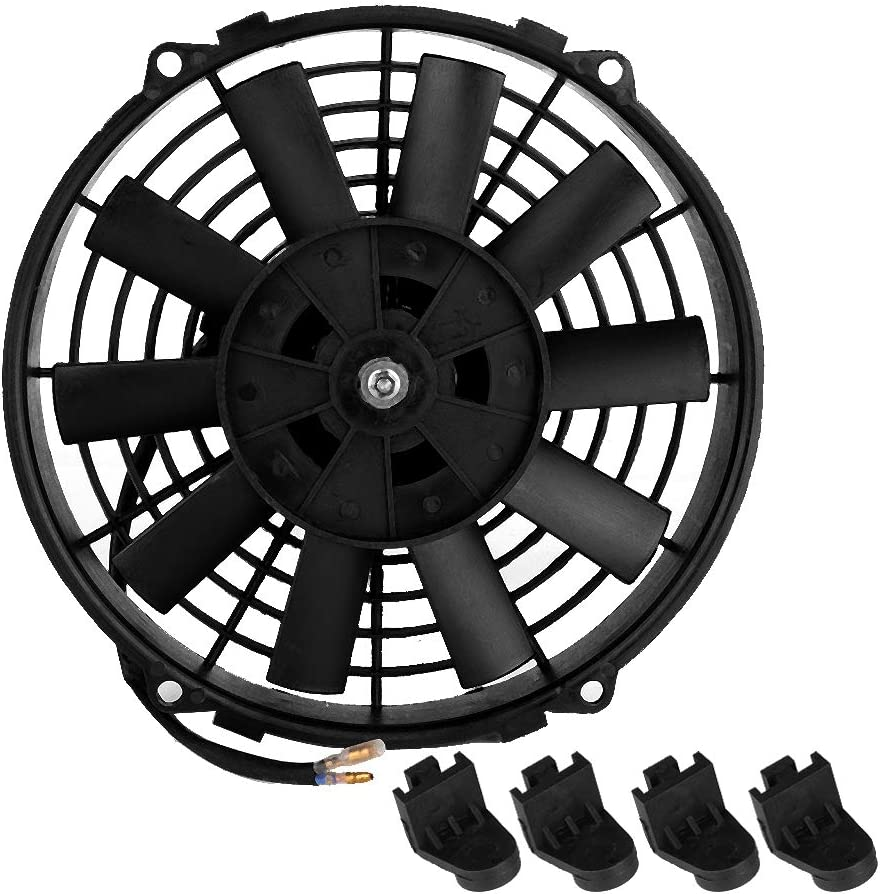 Aramox Car Cooling Fan 12V 24V Universal 80W 9 Ultra-Cheap Deals Japan's largest assortment Blad Curved Inch