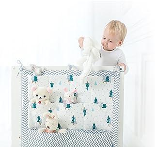 9 poches pour chevet de lit de bébé - Rangement à suspendre dans une chambre de bébé - Rangements pour vêtements, couches,...