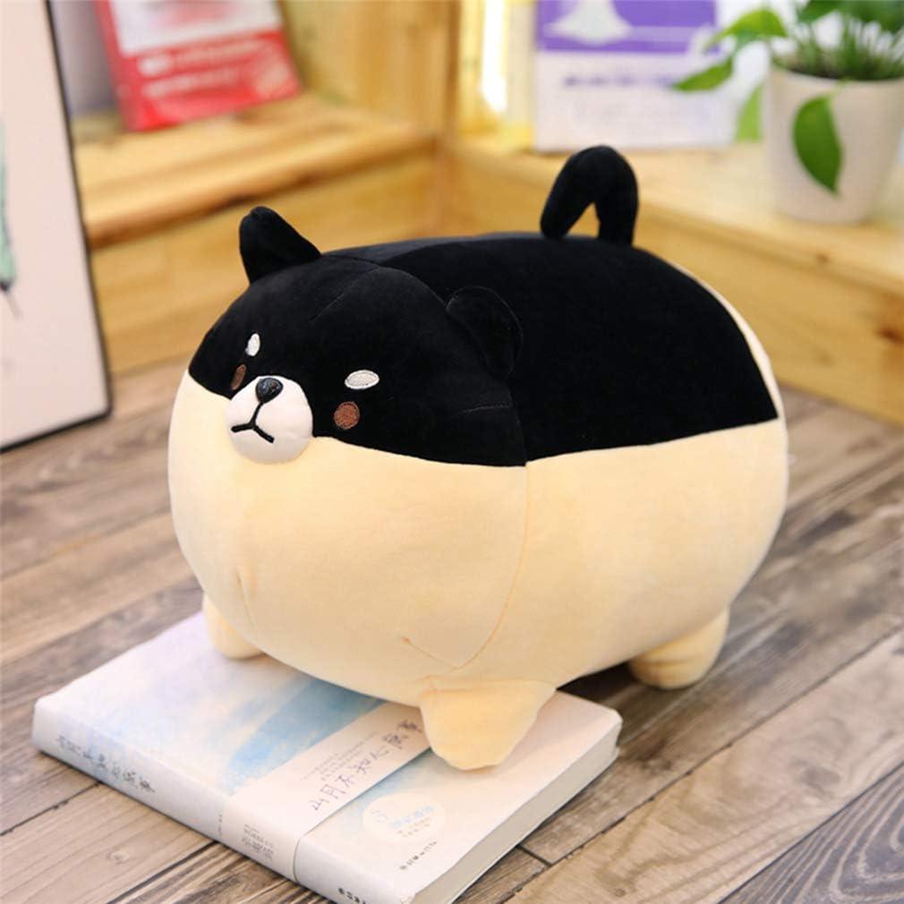 40cm YXiang Cute Fat Shiba Inu Peluche de Juguete Shiba Inu Dog Plush Pillow Animal de Peluche Mejor Regalo de cumplea/ños de Navidad Negro