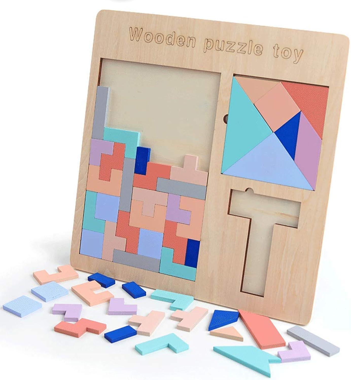 perfecto Little Juguetes Juguetes para Niños Puzzle Puzzle Puzzle Puzzle Bebé Bebé Madera Tangram Puzzle Aprendizaje temprano Inteligencia Desarrollo Tetris Juego Juguetes  para barato