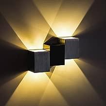 Alotm Modern Aluminum 6W LED Wall Sconce Light Fixture Decorative Lamp Night Light for Home, Bedroom, Living Room, Aisle, Balcony, Theater, Studio, Restaurant, Hotel (Warm White)