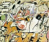 1949 Willaim de Kooning Ashville American painting c19424 A3 Poster - Papel fotográfico grueso brillante (16.5/11.7 inch)(42/30 cm) - Película Película Decoración de pared Arte Actor Actriz Regalo A