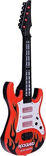 VEZOL Guitar Red Battery Operated Musical Instrument Guitar Toy for Kids Boys Musical Instrument Guitar
