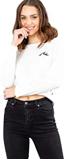 Rusty Loose Soul Crop Long Sleeve Tee - Bright White