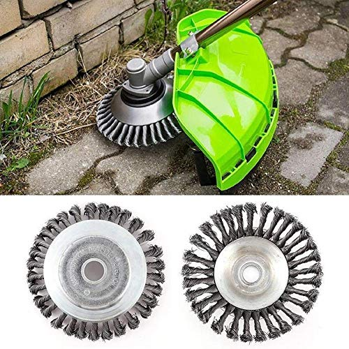 Great Price! Steel Trimmer Head 150mm Break-Proof Rounded Edge Weed Trimmer Edge Head Power Lawn Mow...