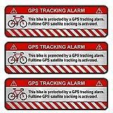 Finest-Folia 9 pegatinas para GPS para bicicleta, moto, coche, alarma, antirrobo, seguro (aluminio pulido plateado, R055)