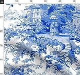 Chinoiserie, Toile De Jouy, Weide, Blau, Blau Und Weiß,