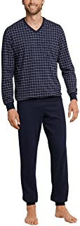 Schiesser Men's Schlafanzug Lang V-Ausschnitt Pyjama Sets
