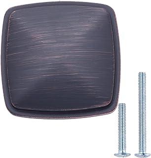AmazonBasics - Pomo de armario tradicional y cuadrado, 3,17