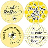Bumble Bee Baby Shower Thank You Stickers - 1.75 in - 40 Labels