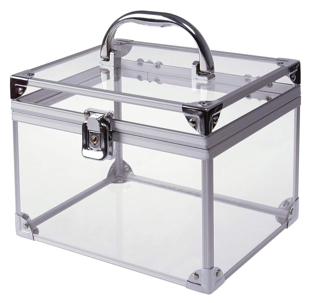 委員会であること火曜日[moonfarm] アクリル製 透明 工具箱 小型 ツール ケース パーツ ボックス 作業 道具 用具 入れ メイクボックス クリア スケルトン モデル (段なしタイプ)