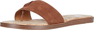 Yellow Box Women's Assymetrical Flat Sandal, Tan, 6