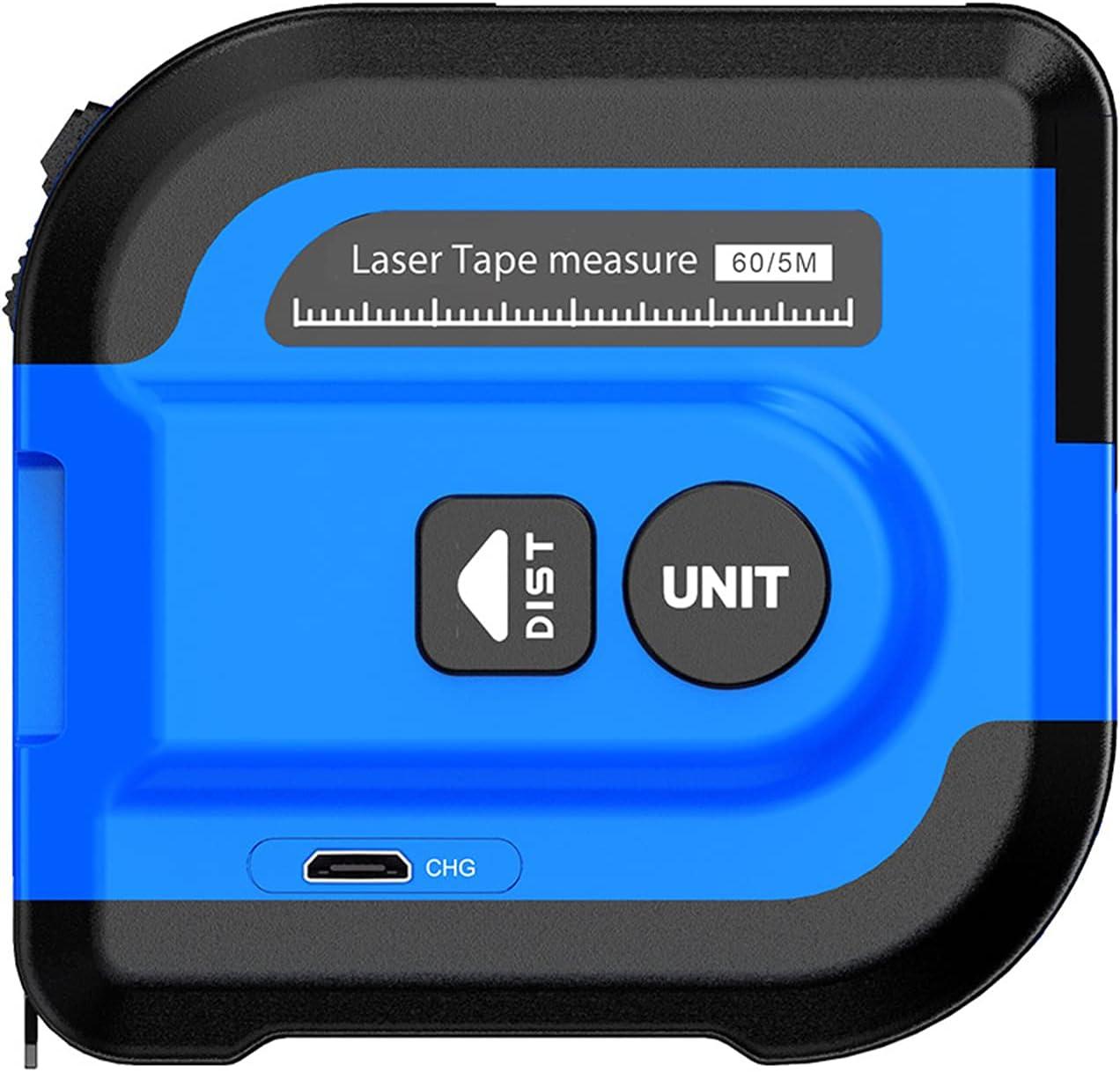 Wacent Dispositivo de medición, medidor de Distancia láser 40M NF-2260L Buscador de Rango 5M Cinta métrica Digital retráctil