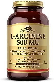 Solgar L-Arginine 500 mg Vegetable Capsules, 250 Count