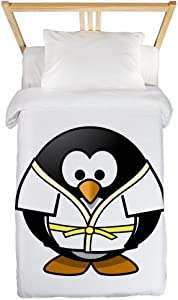Twin Duvet Cover Little Round Penguin - Martial Arts Karate Judo